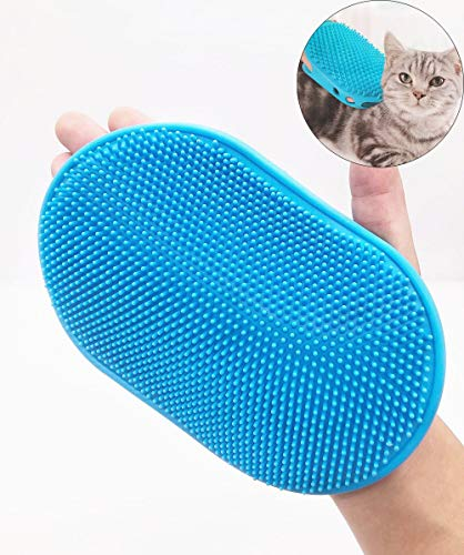 Dog Grooming Brush Cat Grooming Glove Massage Mitt Comb, Rubber Comfortable Grooming Bath Brush Cleaning Tools Pet…