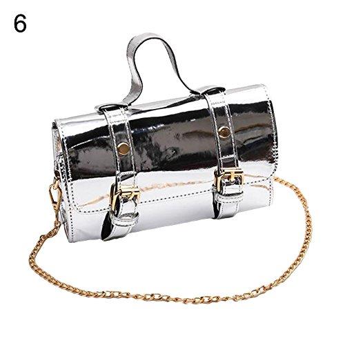 New angel3292 Hot sale Vintage Rolling Shape Laser Faux Leather Buttons Woman Handbag Shoulder Pouch hot sale