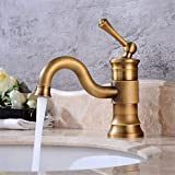 Basin Taps Retro Rotary Basin Faucet Bathroom Antique Faucet Under Counter Basin Rotary Faucet Wash Basin Hot and Cold Faucet