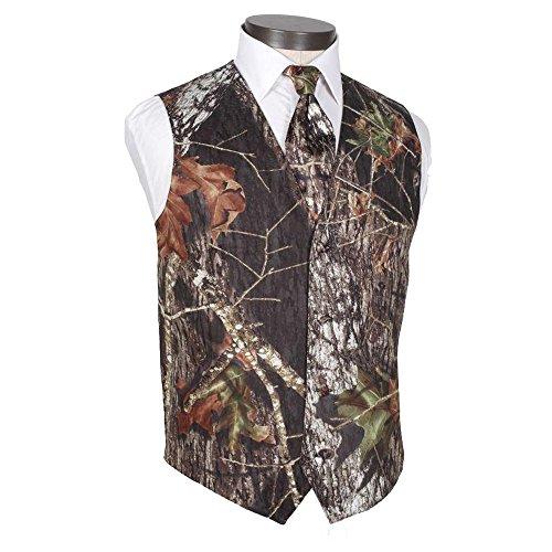 HBDesign Mens 2 Piece 4 Button Vests Outerwear Camouflage Color (Vest+Tie)-35R