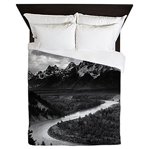 CafePress Ansel Adams The Tetons and The Snake River Queen D Queen Duvet Cover, Printed Comforter Cover, Unique Bedding, Microfiber