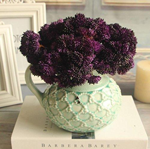 Bouquet Fake Fruit Rare Grass Artificial Flower Home Wedding Decor (Purple)
