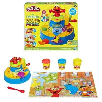 77dc44d45 Amazon.com  Sesame Street Play-doh Color Mixer  Toys   Games