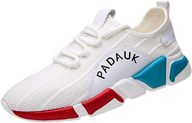 Zapatillas Running Hombre Aire Libre Y Deporte Transpirables Casual Lace Up Zapatos Gimnasio Correr Sneakers, Zapatos Hombre Vestir Casual Malla Ligero Cordones Deportivas Hombre: Amazon.es: Zapatos y complementos