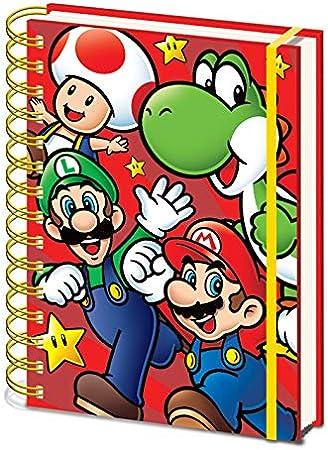 Cuaderno A5 Premium Super Mario
