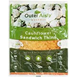 Outer Aisle Gourmet - (24 pieces) Cauliflower Sandwich Thins - Low Carb, Gluten Free, Paleo Friendly, Keto - 4 Pack (24 Pieces)