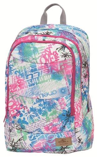 ONeill Double BackPack - Mochila compartimentada para escolares, multicolor