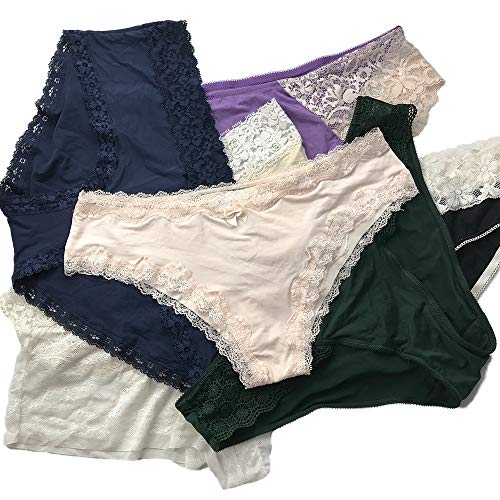b8741463c494c Variety of Womens Underwear Pack Bikini Hipster Briefs Cotton Lace Panties (5pcs)