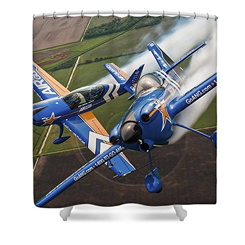 Pixels Shower Curtain (74'' x 71'') ''Air National Guard Aerobatics''