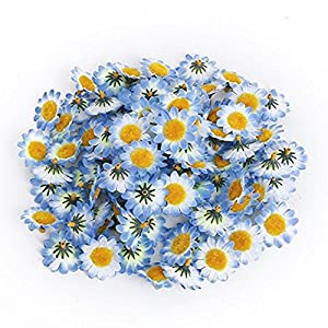 100Pcs Artificial Flowers Wholesale Fake Flowers Heads Gerbera Daisy Silk Flower Heads Sunflowers Sun Flower Heads for Wedding Party Flowers Decorations Home D¡§?cor 3