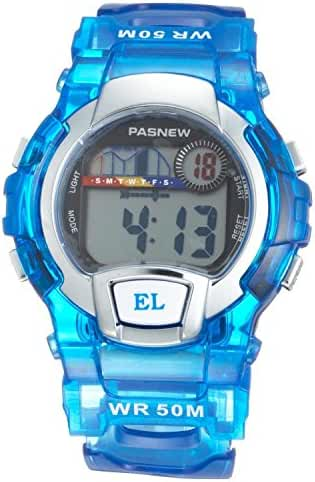 Water Resistant Swimming Led Digital Sport Watch for Boys Girls (Blue)