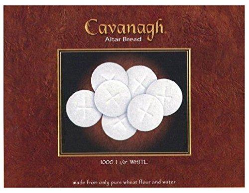 White Altar Communion Bread 1000 Count Box 1 1/8