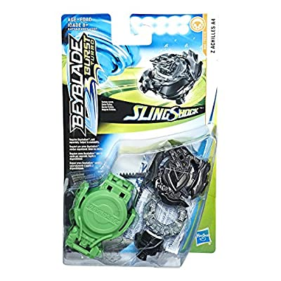 BEYBLADE Burst Turbo Slingshock Z Achilles A4 Starter Pack -- Battling Top and Right/Left-Spin Launcher, Age 8+: Toys & Games