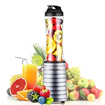 Smoothies Blender 300 Watt with 18 oz BPA Free Portable Travel Sports Bottle -Dishwasher Safe
