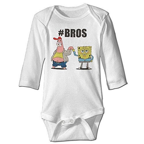 [Infant Unisex Spongebob Bros Baby Outfits Onesies Long Sleeve Jumpsuit] (Spongebob Outfit)