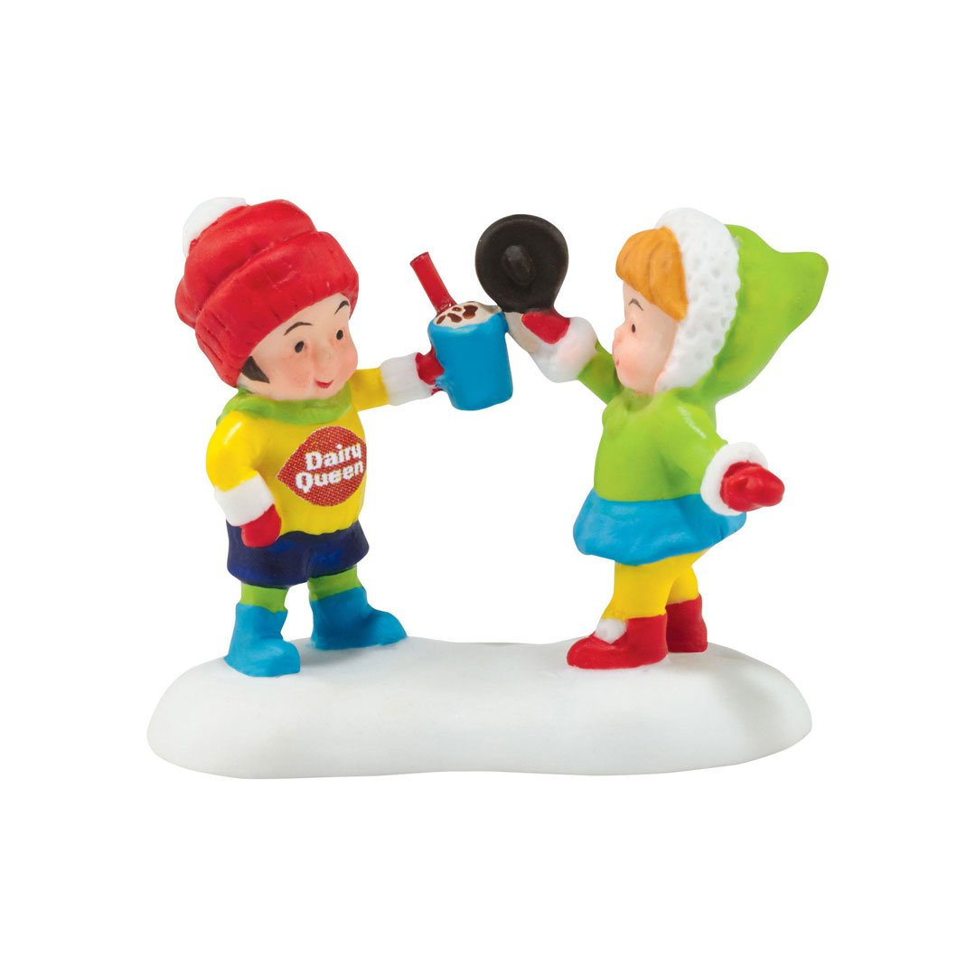 Department 56 North Pole Village Dairy Queen Yummy Treats To Eat Accessory Figurine