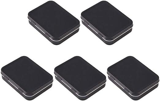 Healifty Caja de Lata Rectangular de Metal de 5 Piezas Pequeña ...