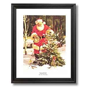 Old st nick santa clause christmas picture for Christmas wall art amazon