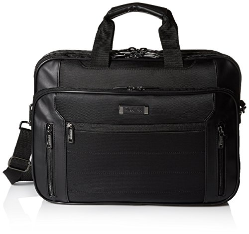 Lined Top Zip Briefcase (Kenneth Cole Reaction Keystone Top Zip Computer Case, Black)