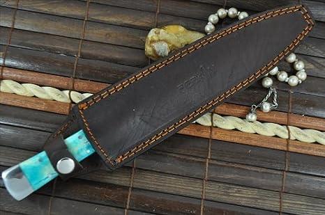 Perkin Knives - Custom Handmade Damascus Hunting Knife - Double Edge Knife