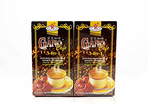 Gano Excel - 2 Boxes (40 Sachets) Ganocafe 3 in 1 Coffee with Ganoderma Lucidum Extract + Free Express 2-3 Days