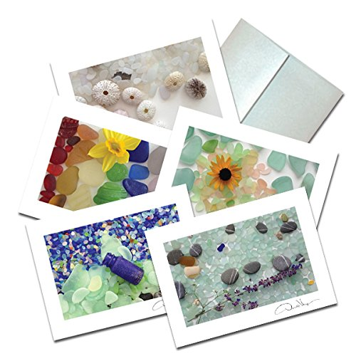 Photo Easter Postcard (Elegant Sea Glass Fine Art Note Cards. 3.5x5 Set of 10 Blank Folded Cards Matching Envelopes. Unique Birthday Cards. Great Thank You Notes & Invitations. Best Quality Christmas & Valentine's Day Gifts)