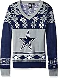 NFL Women's V-Neck Sweater, Dallas Cowboys, X-Large