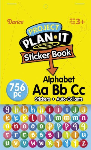 Darice ABC Upper and Lower Case Sticker Book, 6 by 9-Inch