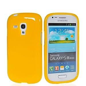 CASEPRADISE Carcasa de TPU Gel silicona Funda Caso Tapa Cover Case Para Samsung Galaxy S3 Mini I8190 Amarillo