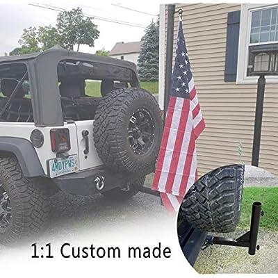 Bestong Universal Hitch Mount Flagpole Holder for 2 inch Hitch Receivers Hitch Mount Flag Holder with Anti-Wobble Screws: Automotive