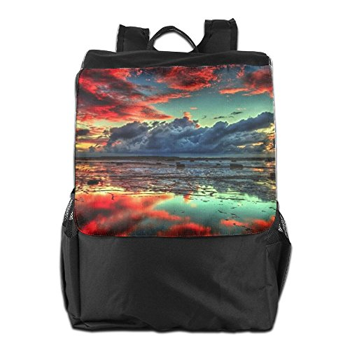 HSVCUY Personalized Backpack Men Cloud Dayback And Adjustable Strap Travel Women Outdoors For School Shoulder Camping Red Storage rr4dFSqwx