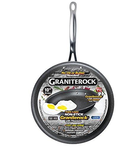 Graniterock Non-stick, No-warp, Mineral-enforced Frying Pans PFOA-Free As Seen On TV (10-inch) by Graniterock