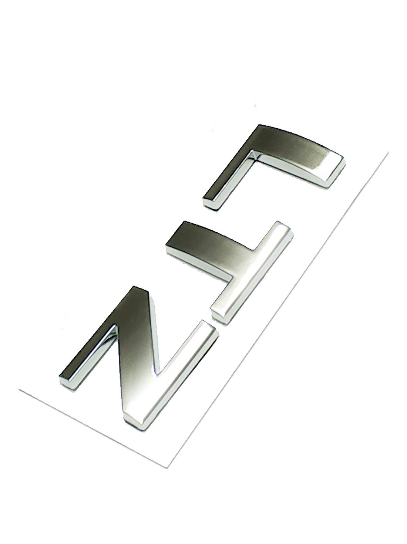 Emzscar 1x Silverado LTZ Letter Nameplate Emblem Badge Replacement for Silverado 1500 2500HD 3500HD Shiny Black