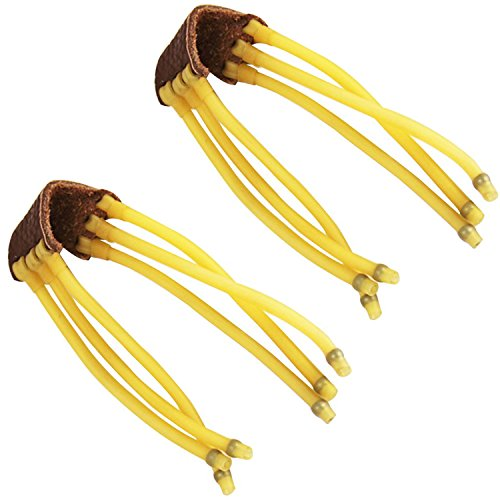 Pack of 2 Professional Outdoor Hunting Sling shot Replacement Bands