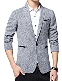 ARRIVE GUIDE Mens Casual Tweed One Button Slim Fit Thin Blazer Jackets Coats