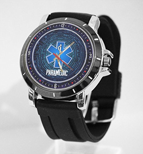Paramedic Blue logo Custom Watch Fit Your - Logo Steel Watch Sport