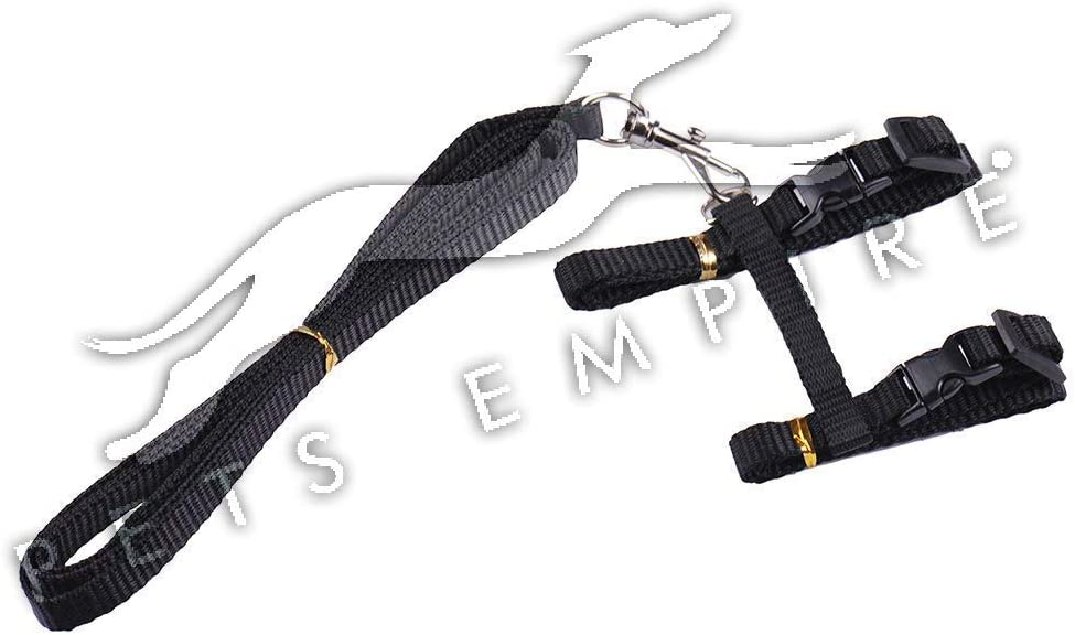 Black PETS EMPIRE Rabbit Cat Kitten Puppy Dog Adjustable Harness Collar Animal Walking Lead Pet Leash
