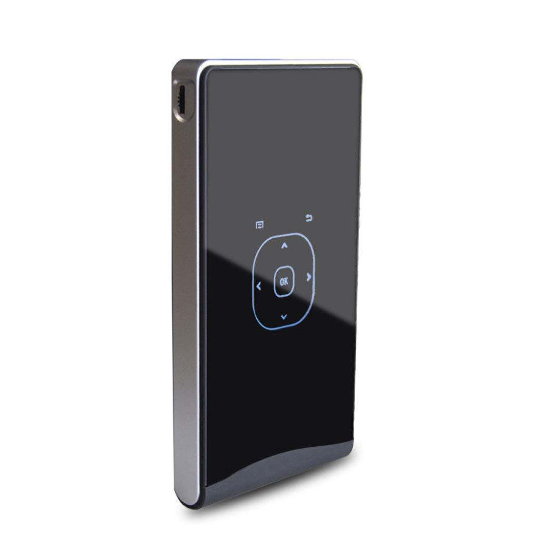 ポータブルミニプロジェクター DLP100Wミニ Android 4.4 60Ansi Lumins 1080P Quad-core DLPピコプロジェクター、サポートのWiFi /ブルートゥース/ HDMI / USB / TF /ミラキャスト/ Airplay ( Color : Black ) B07RD5KFCX
