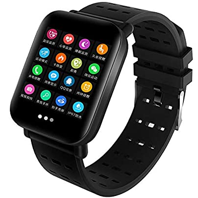 NFGGLM Heart Rate Blood Pressure Monitoring Smart Band Fitness Tracker Remote Control Smart Bracelet Waterproof Wristband Watch Estimated Price £33.65 -
