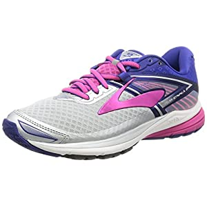 Brooks Women's Ravenna 8 Silver/Clematis Blue/Very Berry 8 B US