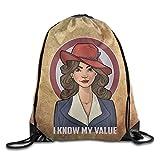 Creative Design Agent Carter Drawstring Backpack Sport Bag For Men And Women