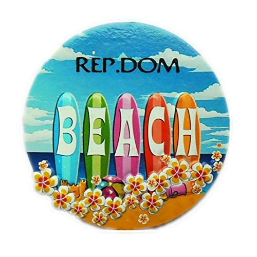 Dominican Republic Magnet Souvenirs Caribbean Sea Ocean Beach 3D Refrigerator Fridge Magnets Souvenir Sticker Kitchen Resin ()