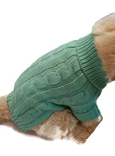 Le Petit Chien Small Dog Puppy Sweater (Medium, Heather Green) ()