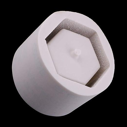 IPOTCH Molde en Forma de Hexágono Molde de Silicona Planta Suculenta Maceta Titular de Vela Molde: Amazon.es: Juguetes y juegos