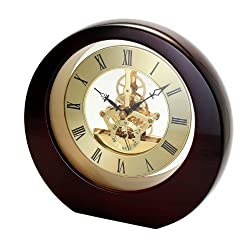 Interactive Gear Clock Mahogany
