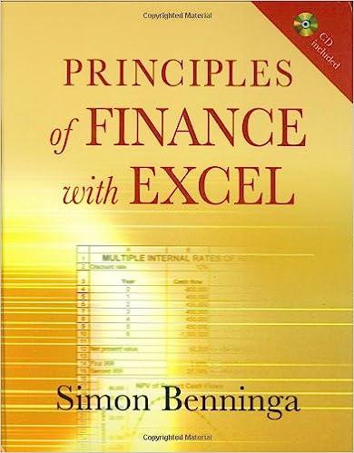 Principles of Finance with Excel: Includes CD: Simon Benninga ...