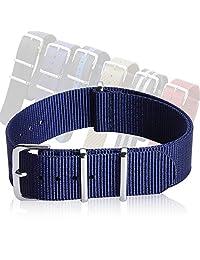 NATO Watch Straps, Nylon Straps Zulu Strap Fabric Watch Band Width 18mm 20mm 22mm CHIMAERA Dark Blue