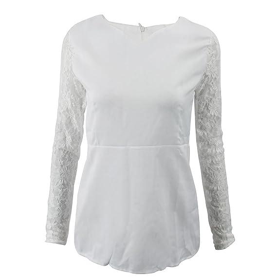 SODIAL(R) Blusa de mujer dulce senora de moda Vestido camisa de ganchillo de