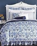 Lauren by Ralph Lauren Palm Harbor King Sham - Blue & White Octagonal