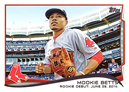 Amazoncom 2014 Topps Update Baseball Us 301 Mookie Betts Rookie